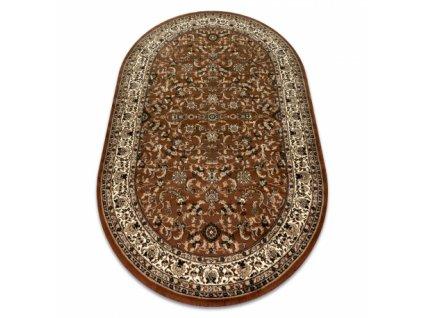 Oválný koberec ROYAL ADR 1745 Klasický hnědý