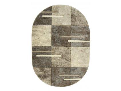 Oválný koberec Rumba 7428 béžový / krémový