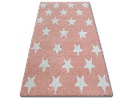 Koberec SKETCH - FA68 Hvězdy růžový krémový