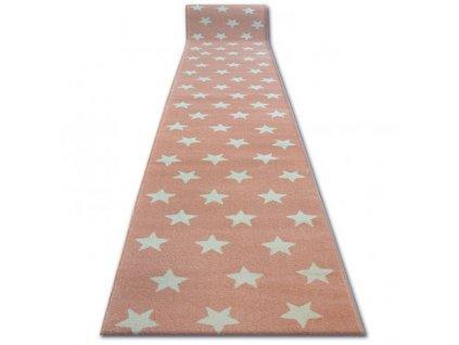 Běhoun SKETCH - FA68 Hvězdy růžový krémový