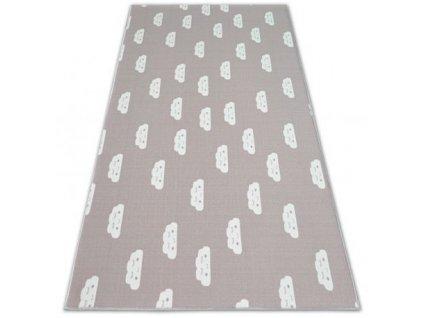 Dětský kusový koberec CLOUDS Mráčky růžový