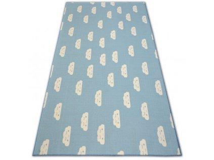 Dětský kusový koberec CLOUDS Mráčky modrý