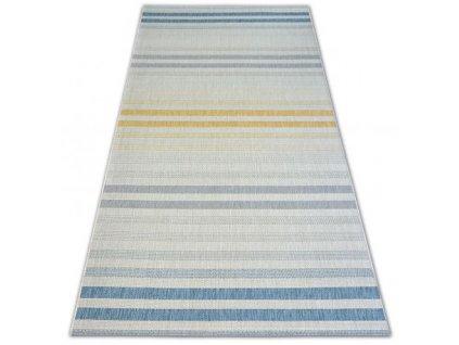 Kusový koberec Sisal COLOR 19017/061 Pruhy barevný