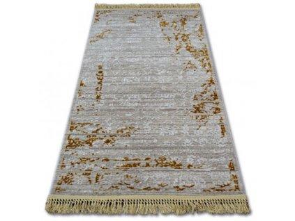 Luxusní kusový koberec akrylový MANYAS 193AA Hnědý krémový