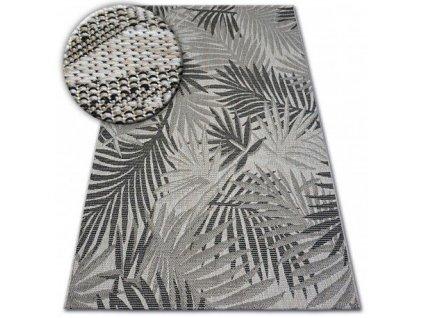 Kusový koberec Sisal FLOORLUX 20504 stříbrný / černý