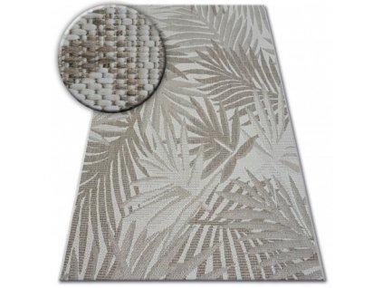 Kusový koberec Sisal FLOORLUX 20504 šampaň / šedý