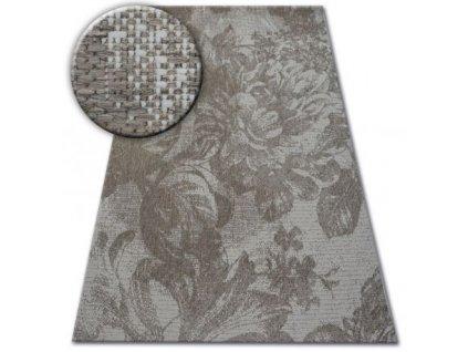 Kusový koberec Sisal FLOORLUX 20491 Tmavě šedý
