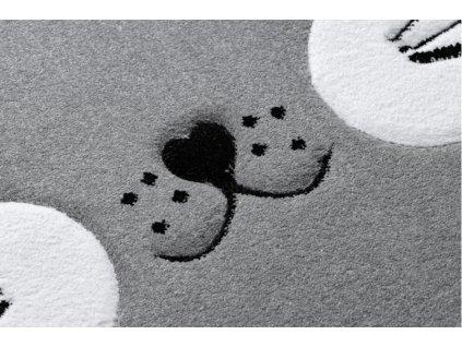 Dětský kulatý koberec PETIT Kočka šedý
