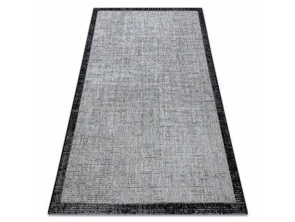 Kusový koberec SISAL FLOORLUX 20401 stříbrný / černý