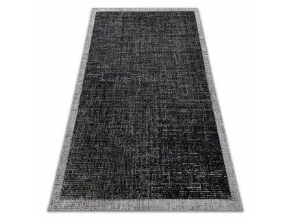 Kusový koberec SISAL FLOORLUX 20401 černý / stříbrý