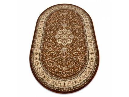Oválný koberec ROYAL ADR 521 Klasický hnědý