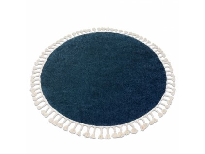 Kulatý koberec BERBER 9000 tmavě modrý
