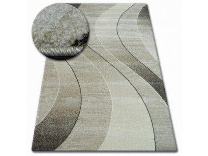 Kusový koberec SHADOW 8595 hnědý krémový
