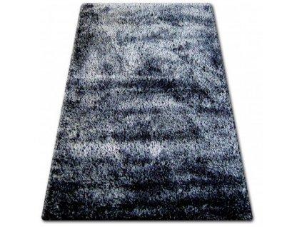 Kusový koberec SHAGGY NARIN P901 černý krémový fialový