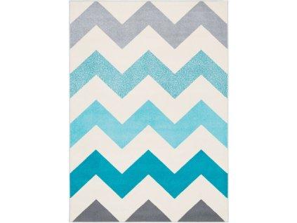 Kusový koberec Agnella Funky Top Super Cikcak modrý