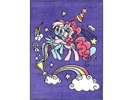 Dětský kusový koberec Agnella Happy Hugs Modrý