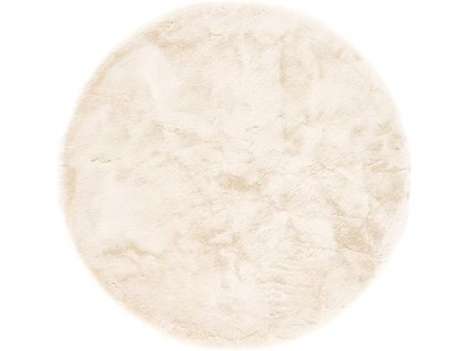 Kulatý koberec Shaggy Veneto jednobarevný béžový