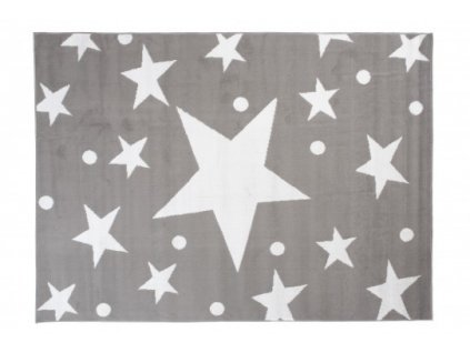 Moderní kusový koberec BALI C440A Hvězdy světle šedý / bílý
