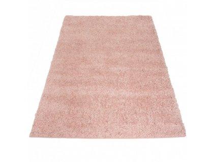 Kusový shaggy koberec jednobarevný SOHO P113A růžový