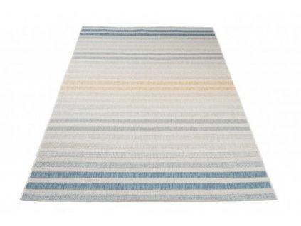 Kusový koberec JUNGLE 19017/061 Proužky modrý
