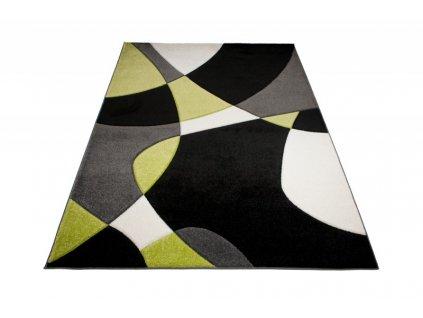 Kusový koberec SUMATRA 9563F šedý / černý / žlutý