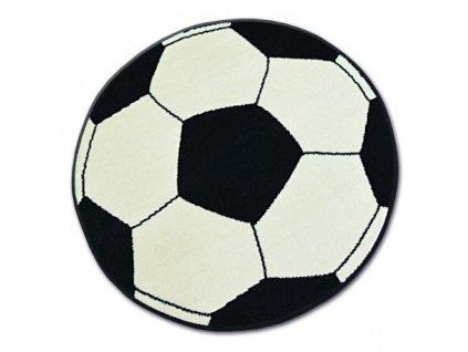 Koberec BASE 3943 Kopací míč černý / krémový