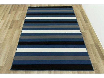 Kusový koberec LUNA 502583/54922 pruhy modrý