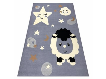 Dětský kusový koberec BCF FLASH 4000 Ovečka šedý