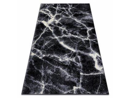 Kusový koberec BASE 3988 kámen mramor černý / šedý