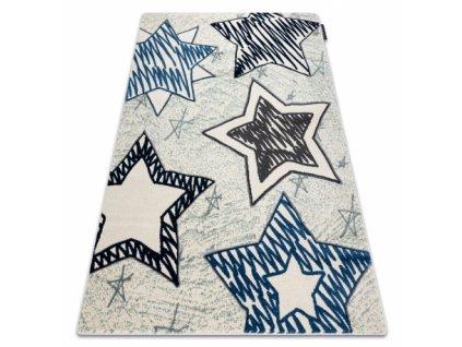Dětský kusový koberec PETIT STARS Hvězdy modrý