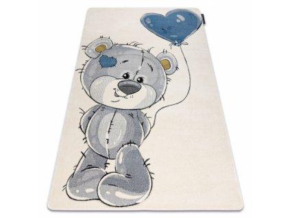 Dětský kusový koberec PETIT TEDDY Medvídek krémový