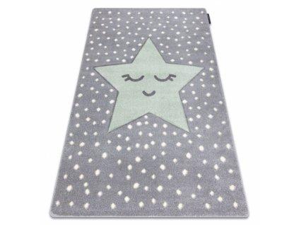 Dětský kusový koberec PETIT Dream hvězda šedý