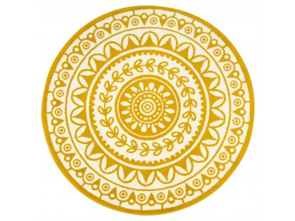 Kulatý koberec LUNA 503786/89955 hořčicový žlutý