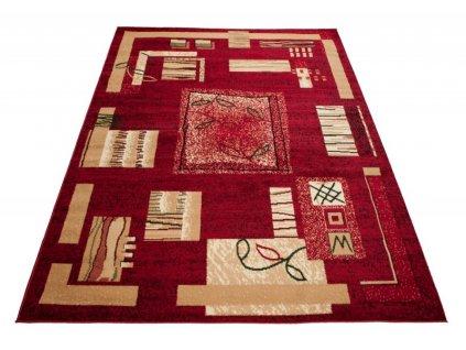 Kusový koberec ATLAS 5067D Červený