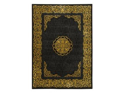 Moderní kusový koberec FESTIVAL 1396A černý / žlutý