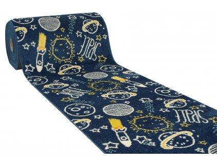 Běhoun dětský Emily 2359A rakety vesmír modrý