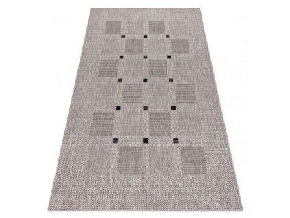 Kusový koberec Sisal FLOORLUX 20079 stříbrný / černý