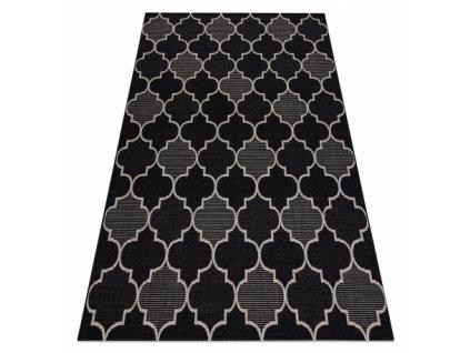 Kusový koberec Sisal FLOORLUX 20607 černý / stříbrný