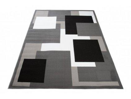 Moderní kusový koberec CHEAP T968A tmavě šedý