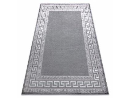 Moderní kusový koberec MEFE 2813 Řecký vzor šedý