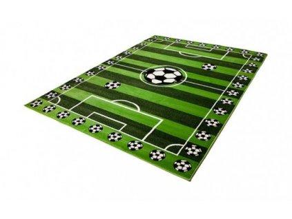 Dětský kusový koberec KINDER C787A Fotbalové hřiště zelený