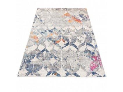 Moderní kusový koberec A021A DENVER šedý / bílý