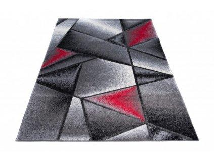 Kusový koberec SUMATRA J374C šedý / červený