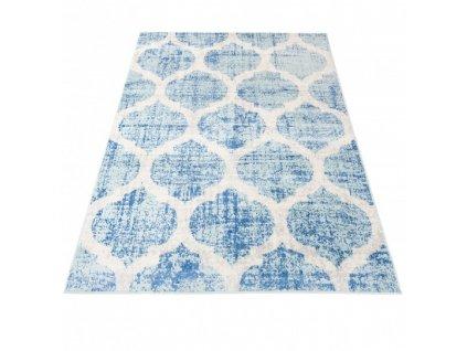 Kusový koberec HAPPY H326A modrý / bílý