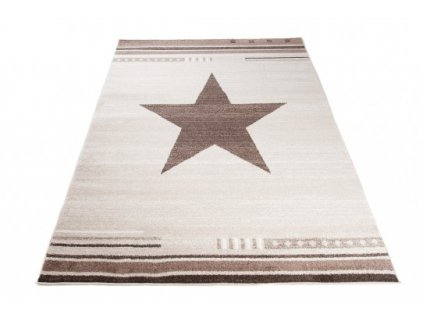 Moderní kusový koberec MAROKO L916A Hvězda béžový
