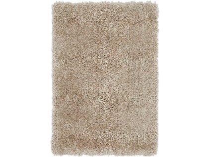 Kusový shaggy koberec Spiral Sand béžový