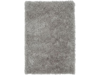 Kusový shaggy koberec Spiral Silver stříbrný