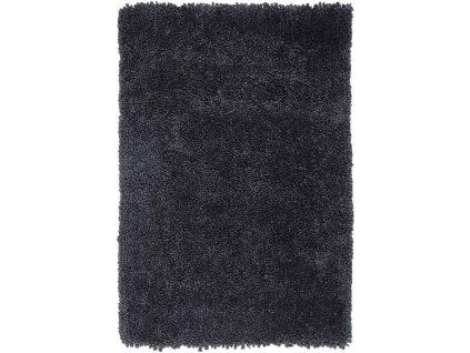 Kusový shaggy koberec Spiral Steel tmavě modrý