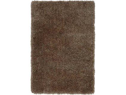 Kusový shaggy koberec Spiral Taupe světle hnědý