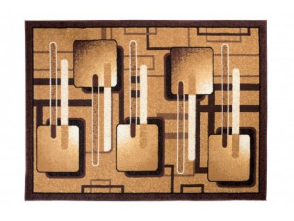 Moderní kusový koberec BALI C514D hnědý